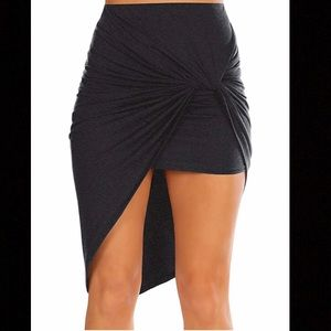 Pinched Hem Grey Skirt